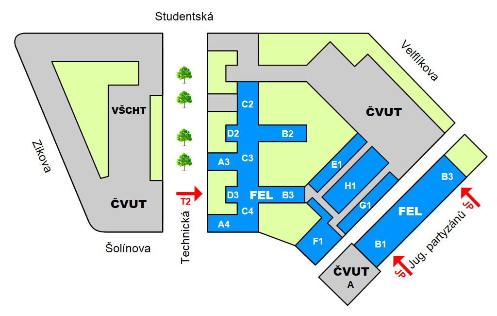 Finding Your Way Around Our Campus Ctu Faculty Of Electrical